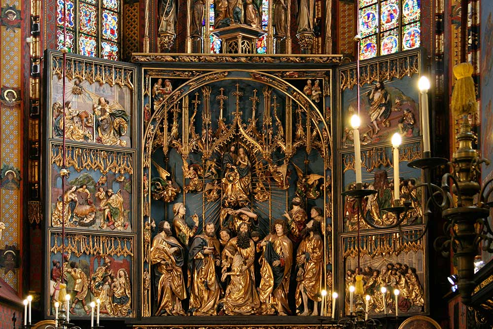 Cracovie Basilique Retable