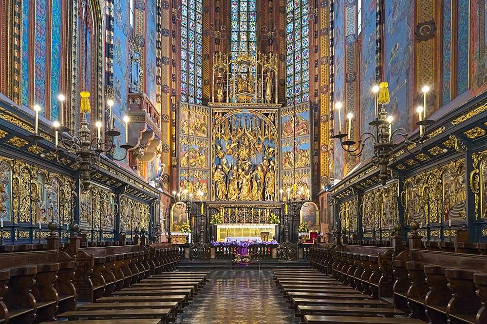 Cracovie Basilique Intérieur