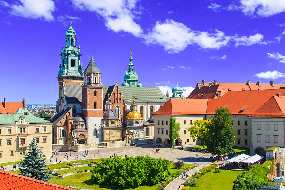 Cracovie Château Wawel Entete
